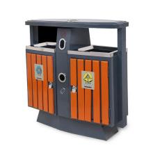 Cubo de basura de acero inoxidable con cenicero para exterior (A3600)