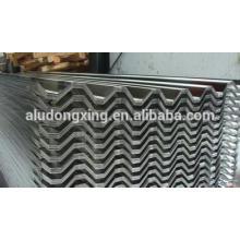 Folha de cobertura de alumínio ondulado fabricada na China