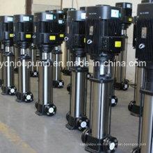 Bombas elevadoras de presión de agua de acero inoxidable, bomba multietapa en línea vertical