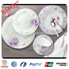 Portable Microwave Oven Safe Wright White Milk Opal Crinoline Ripple Dinnerware Cup Saucer Plate Bowl Sets