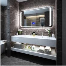 Armários de banheiro com espelho moderno e luz