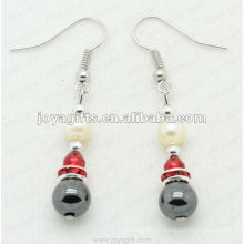 Magnético Hematite Round Beads Brincos