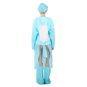 Robes d'isolement jetables non médicales Blue Aami Standards