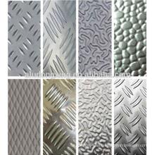 Hoja de aluminio del refrigerador en relieve y oxidado / placa 5000series