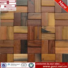 telha de mosaico misturada da decoração da parede do barroom da telha do olhar da madeira contínua