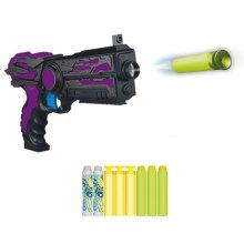 Electric 6PCS bala carga lançar pistola de brinquedo de pistola de bala suave