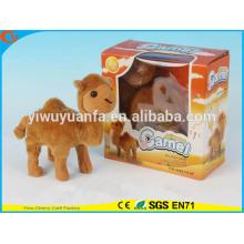 Novelty Design Kids' Toy Colorful Walking Electric Skip Stuffed Camel
