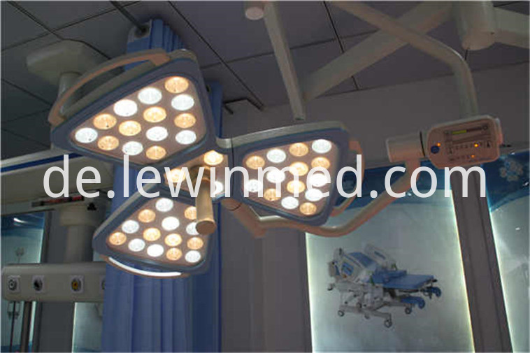Adjustment arm surgical lamp