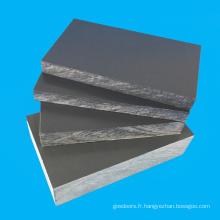 Feuille de PVC d'épaisseur de 10mm gris pour l'aquarium