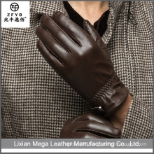 Wholesale low price high quality full grain leather gloves