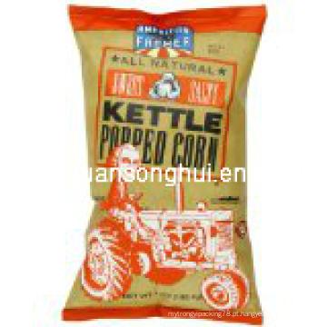 Saco de empacotamento da pipoca plstica / saco da pipoca / saco soprado do alimento