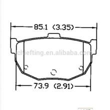 D464 58302-29A00 for Hyundai Kia Nissan icer brake pad