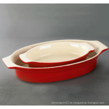 Conjunto de Bakeware com Vidro Colorido