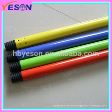 Tubo de metal pintado en polvo / color manija de la escoba del metal del PVC / manija del tubo del metal de la pintura