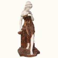 westliche Innen- und Außendekoration schöner Marmor Carving Lady Statue Stein