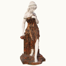 western indoor and outdoor decoration beautiful marble carving lady statue stone