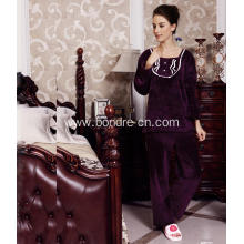 Women's Round Neck Fleece Pajama Suit