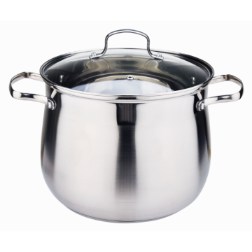 Stainless Steel Belly Shaped Induction Soup Stock Pot