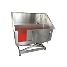 Veterinary Stainless steel pet bath tube  hot air function pet surfing pool with cheap price