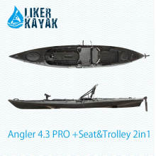 Único assento sente-se no caiaque superior da pesca disponível com motor, assento, trole 2in1, Fish Finder Accs