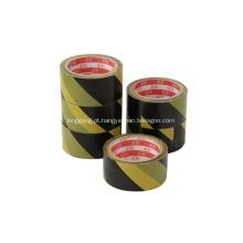 Fita de advertência amarela preta do vinil da segurança colorida