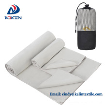 Toalla de viaje al por mayor fácil del Microfibra del llevar del fabricante con el embalaje neto de la bolsa