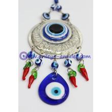 Blue Evil Eye Car Hanging Ornament With Evil Eye Bead Red Pepper