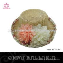 Sombrero de paja de sombrero de paja de los niños para los cabritos al por mayor sombrero del sol de los cabritos