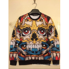 Multicolor Skull Printing Casual Long Sleeve Sports Shirt