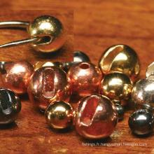Perles fendues de tungstène de pêche à la mouche de haute qualité