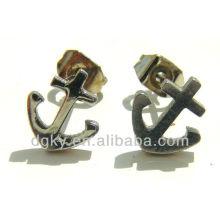 Wholesale fashion anchor stud earring