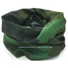 OEM Produce Customized Army Green Printed Outdoor Sports Seamless Magic Bandana