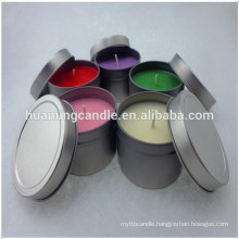 Soy Scented colored votive tin candle