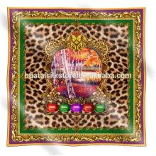 2014 новый дизайн шарфа леопарда 100 шелковых шарфов и платок