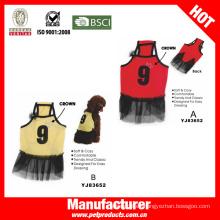 Vestido de lujo del perro del deporte, ropa barata del perro (YJ83625)