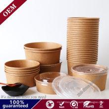 Disposable Hot Soup Cups Takeaway Tubs Kraft Paper Bowl
