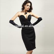 High end personalizado comprimento total sexy querida vestido de noite