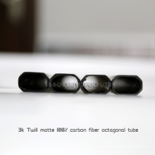 Tubo plano del auge rectangular lleno del carbono de la longitud 3k de 600m m