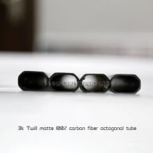 Tubo reto do crescimento retangular do carbono completo do comprimento 3k de 600mm