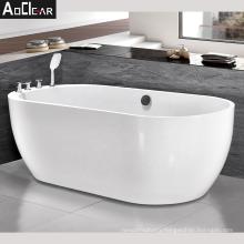 Aokeliya acrylic variety size oval white freestanding soaking bathtub
