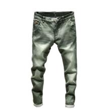 Jeans jeans slim fit elástico masculino cor sólida