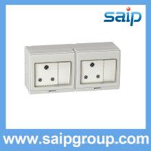 Saip / Saipwell наружный выключатель и розетка с прозрачной крышкой
