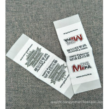 Low MOQ Soft Surface Garment Fabric Woven Label with End Folding