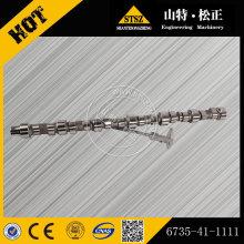 Komatsu spare parts PC220-7 excavator Camshaft 6735-41-1111