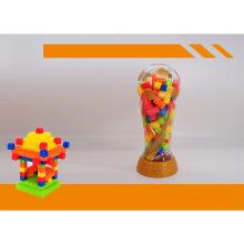 Brinquedos de plástico educacionais Toy Cup Jar Blocos