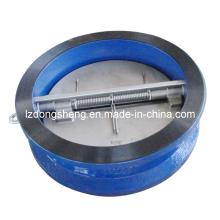 Обратный клапан плоской посадки с двумя пластинами