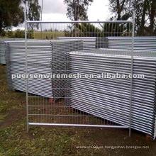 Fabricación de vallas temporales galvanizadas y recubiertas de PVC