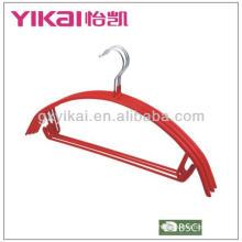 PVC cabide revestido de metal com barra de calças