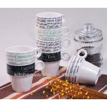 2013 Haonai changing color ceramic mug with animal print