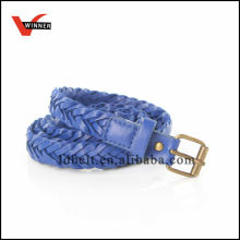 2014 New jewelry blue Color Pu Leather braided Belts